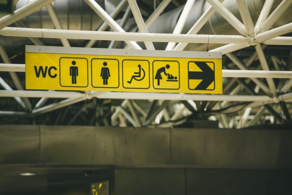 Wegzeichen für Toiletten